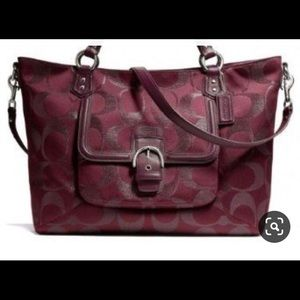COACH Signature Metalic Campbell Izzy Bag
